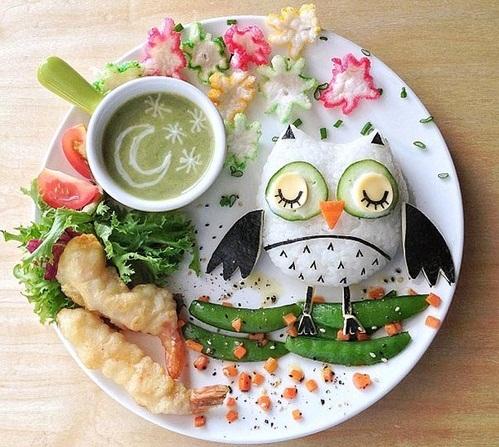vegetables-bird-plate