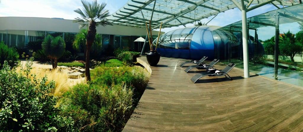 Patio de relaxation Spa Les Jardins d'AurÇane Montpellier
