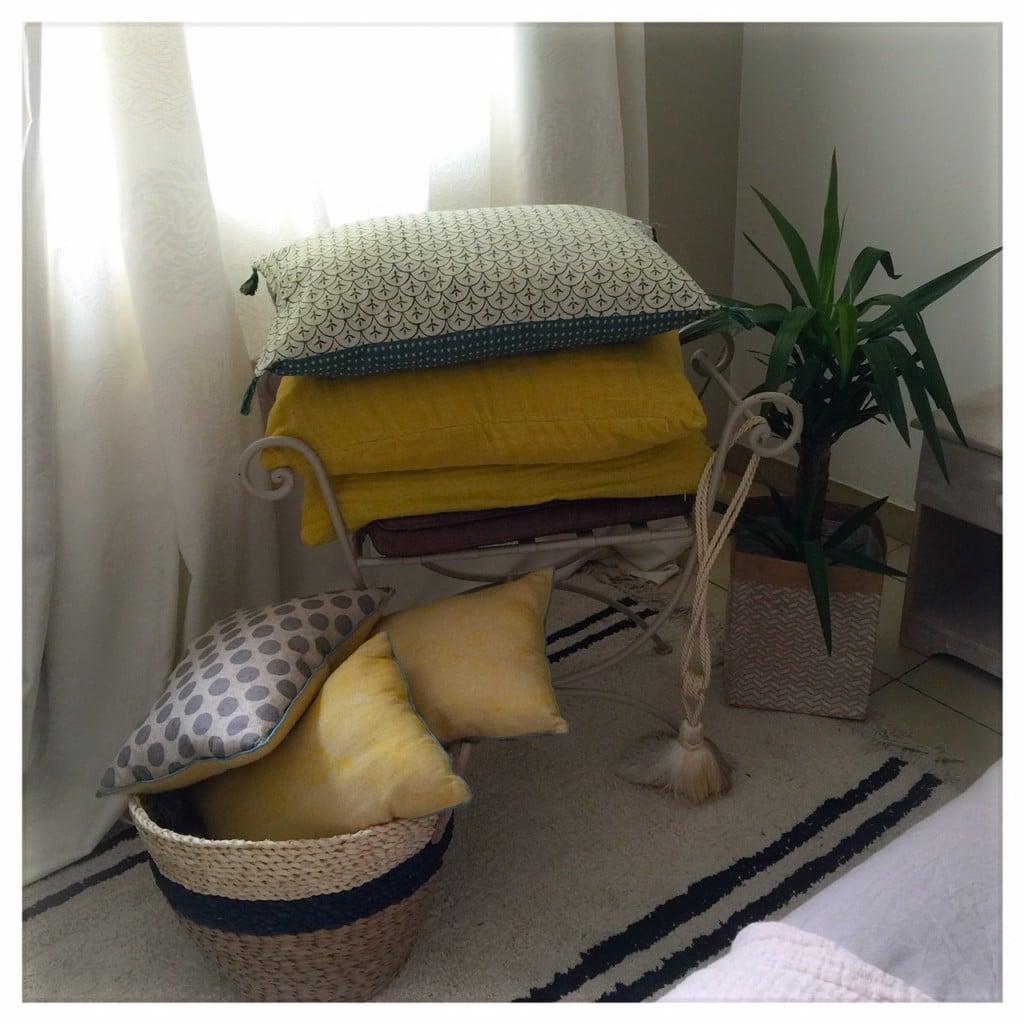 Les coussins en décoration et un DIY !