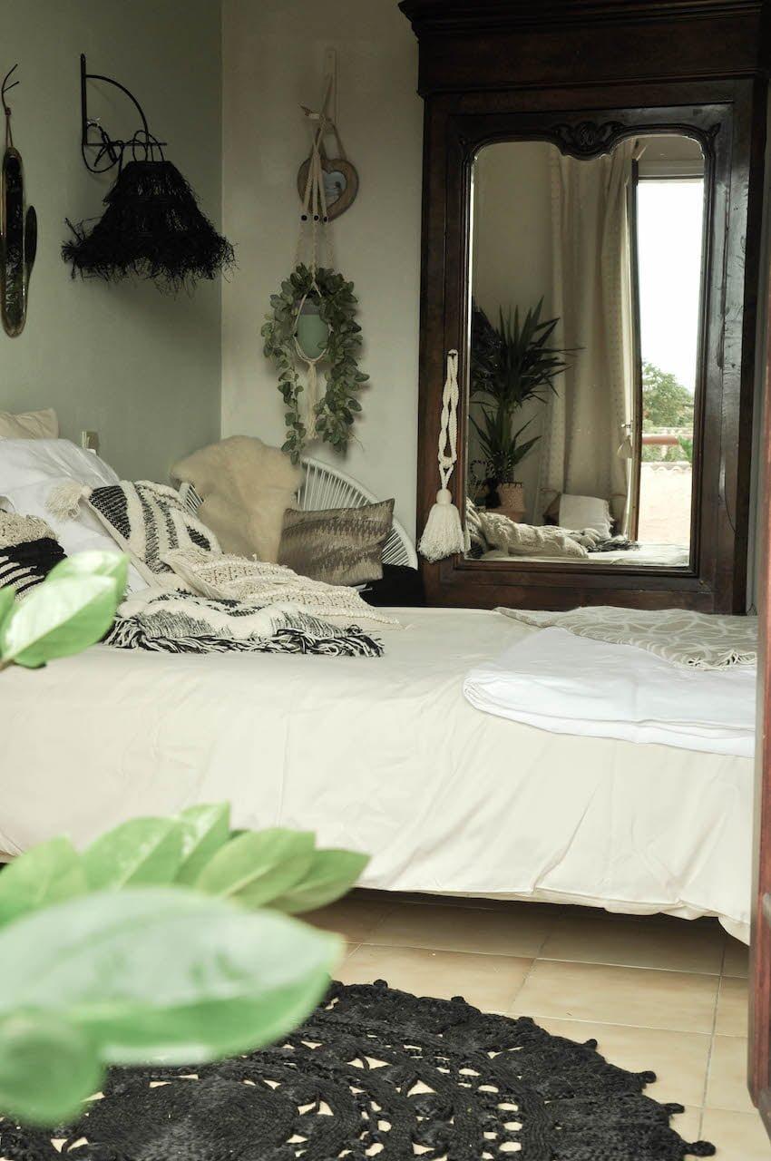 Décoration-chambre-bohème- relooking -peinture-laprovinciale