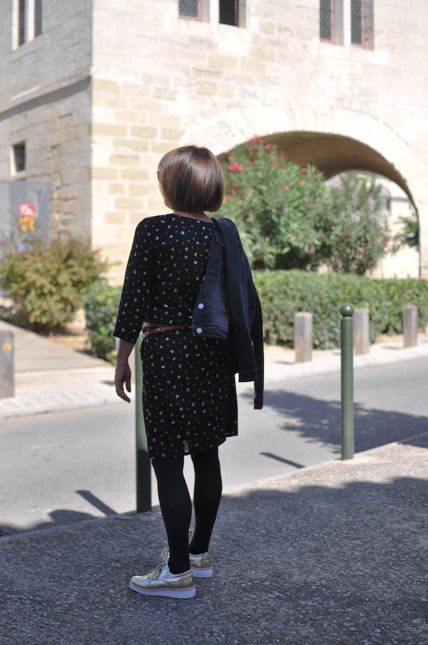 Robe impirmée-Blancheporte-Restaurant- dejeuner-mode4