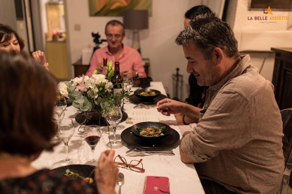 Mon expérience d'un diner avec un chef à domicile
