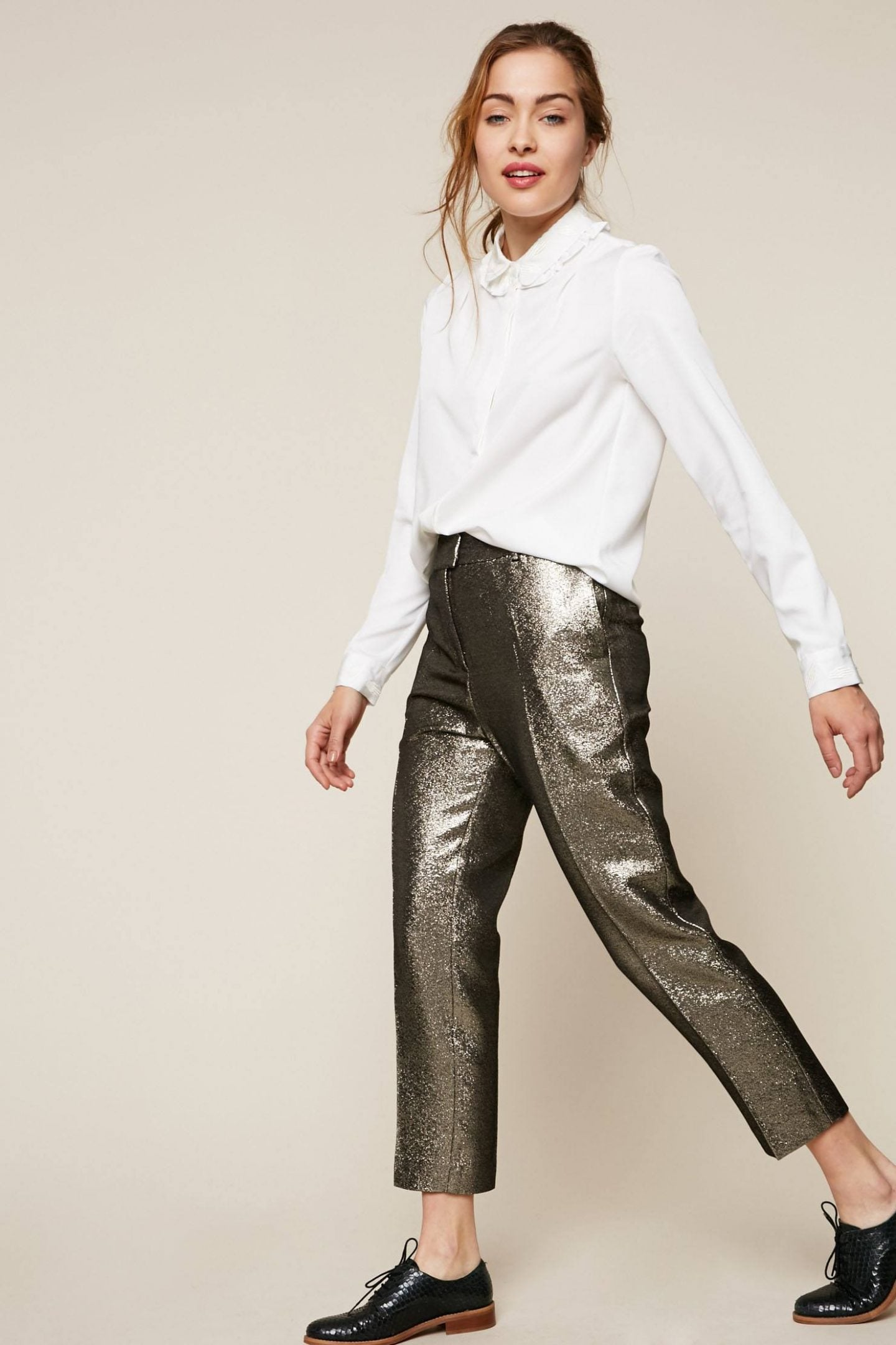 pantalon brillant