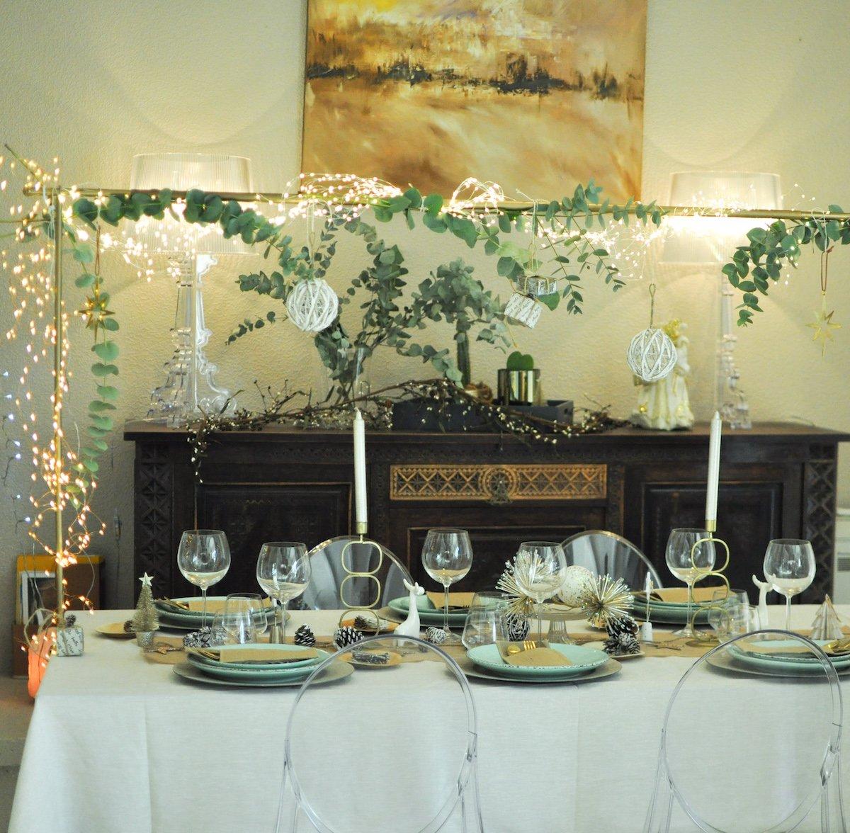 Entre sophistication et nature : ma table de Noël