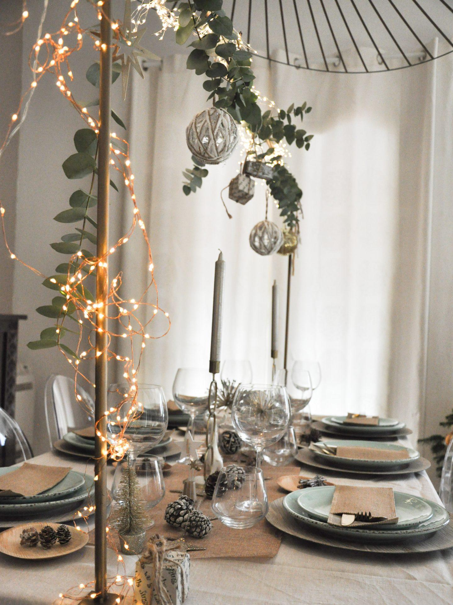 Vue table de Noël
